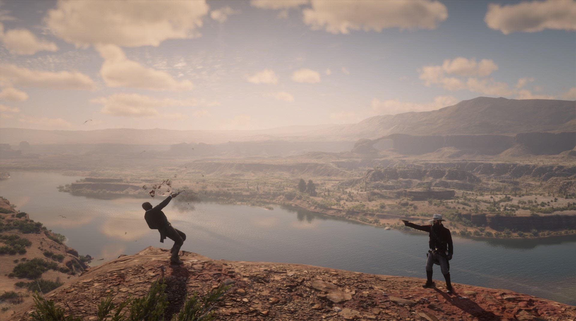 Red Dead Player Kidnaps Sheriffs, Shoots Them In Beautiful Locations