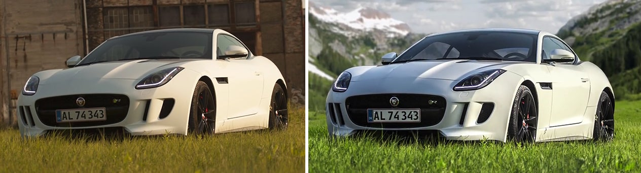 Watch A Photoshop Master Effortlessly Move This Car To A Beautiful Mountain Setting