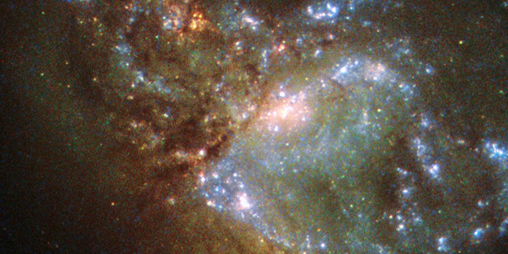 This Is What Two Galaxies Look Like When They Merge Together As One