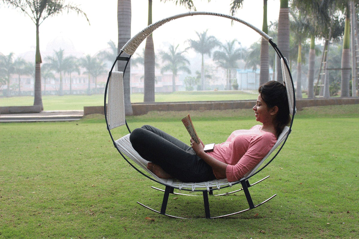 I Want to Spend All Day In This Hammock Rocking Chair