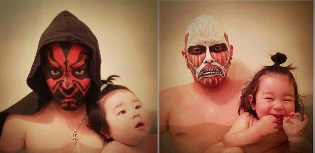 Cosplay Turns Bath Time into Fun Time