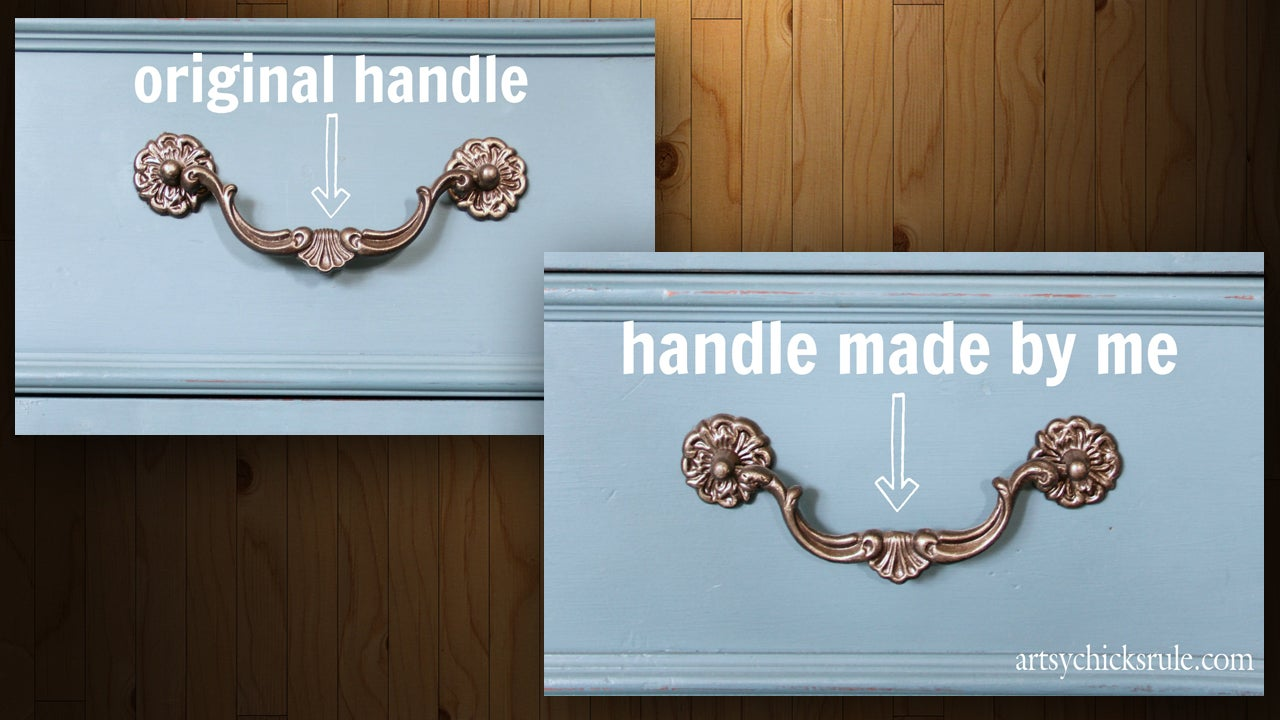 Mould Your Own Handles To Replace Broken Or Missing Cabinet Hardware