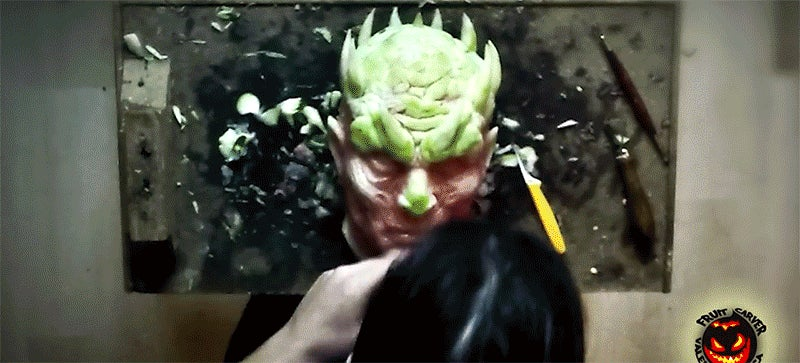 Watch a Watermelon Become the Night King From Game of Thrones