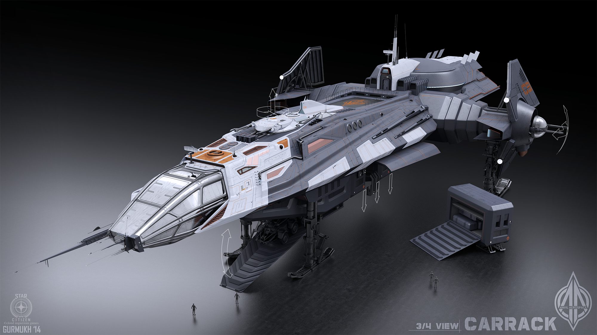 I want to live in this cool spaceship from Star Citizen