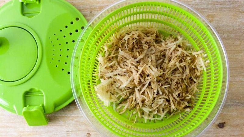 Spin Your Shredded Potatoes for Crispier Hash Browns