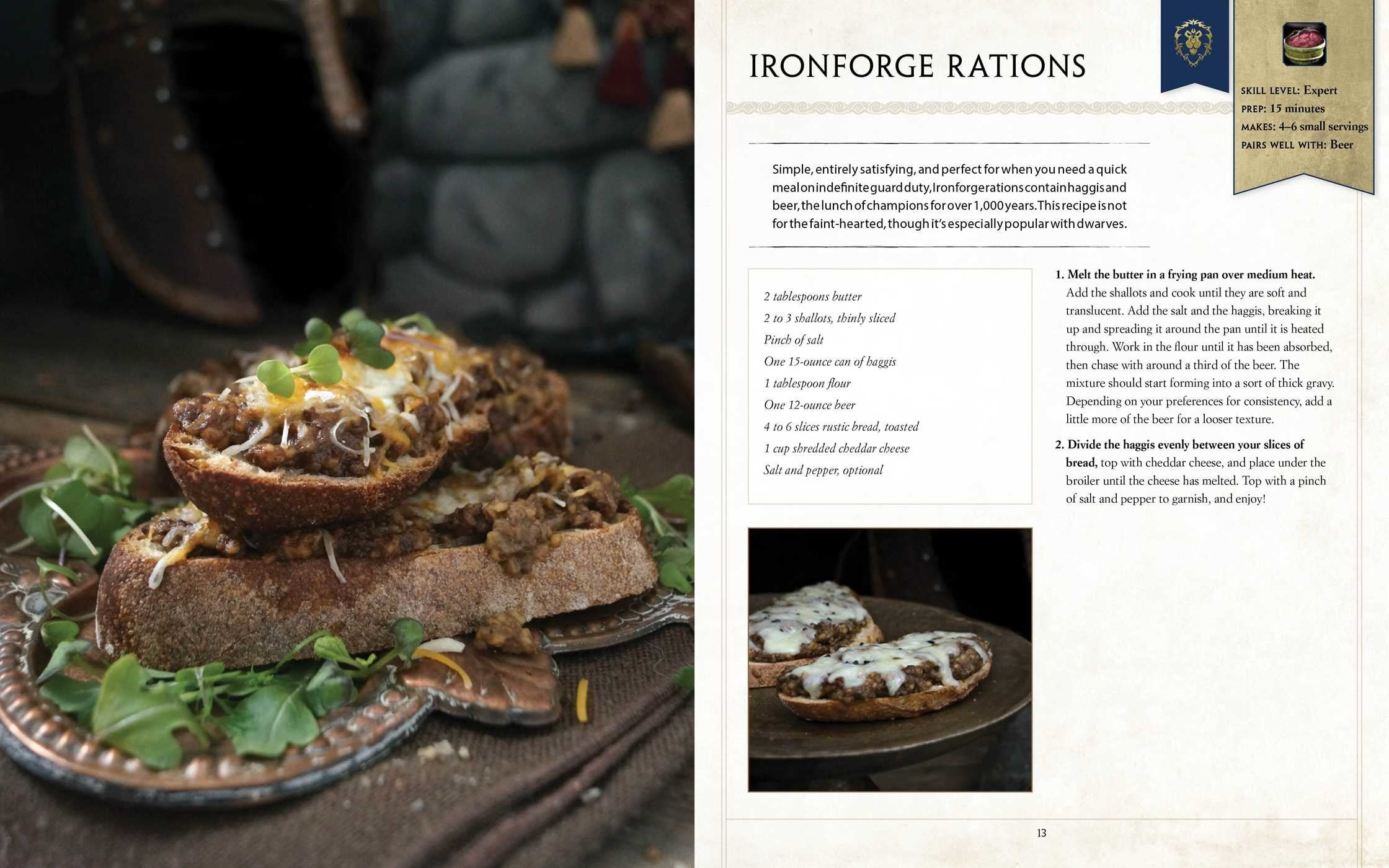 The Official World Of Warcraft Cookbook Calls For Hungry Players, Canned Haggis