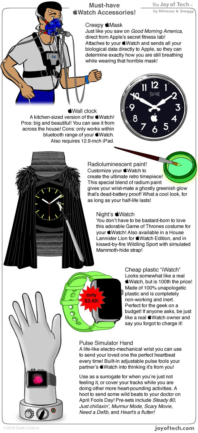 These Are the (Fictional) Apple Watch Accessories You'll Really Want