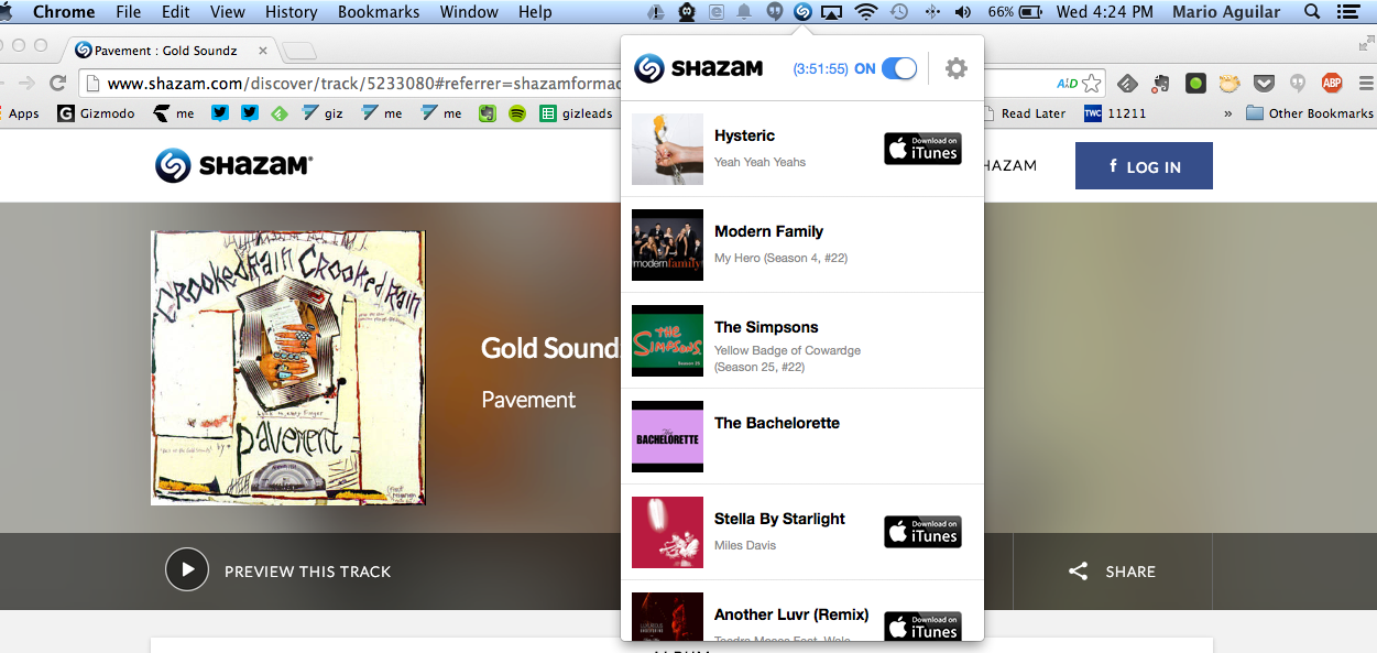 Shazam For Mac Brings Automatic Song and TV Show ID to Desktops