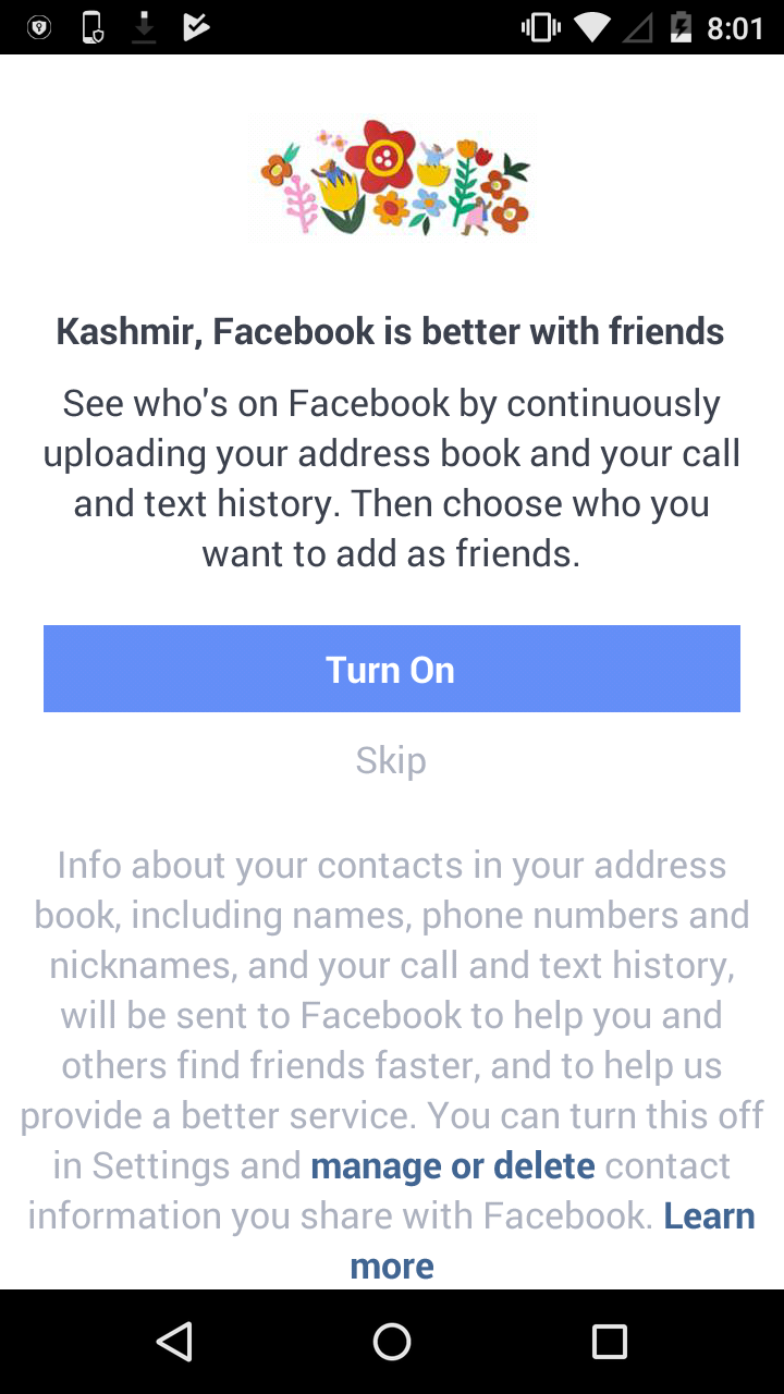 login into facebook lite