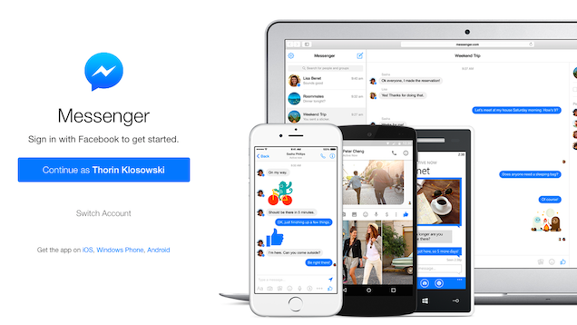 Facebook Launches Standalone Messenger App for Browsers
