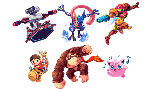 Smash Bros. Characters Turned Into Gorgeous Pixel Art