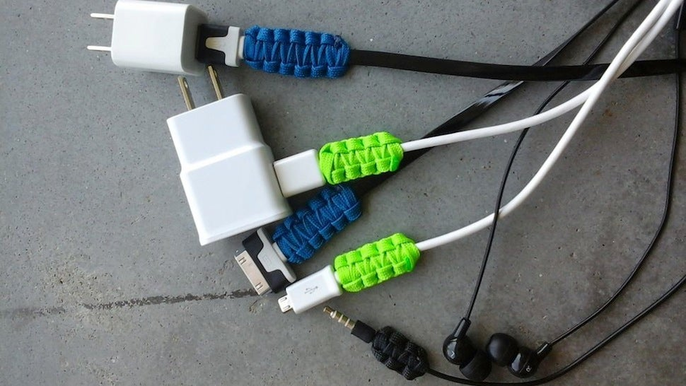 Reinforce Charging Cable Joints with Paracord