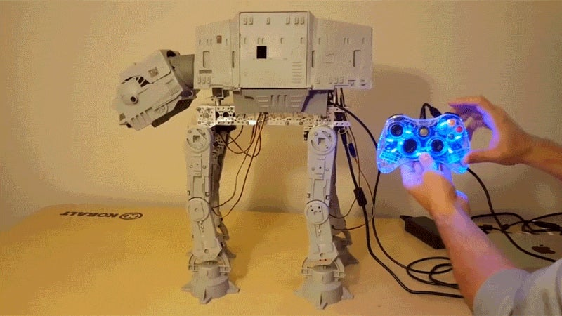 Vintage AT-AT Comes To Life With The Help Of An Xbox Controller