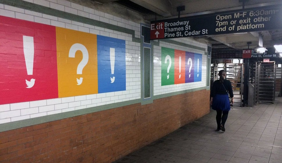Twitter: Maybe Subway Ads Will Help?