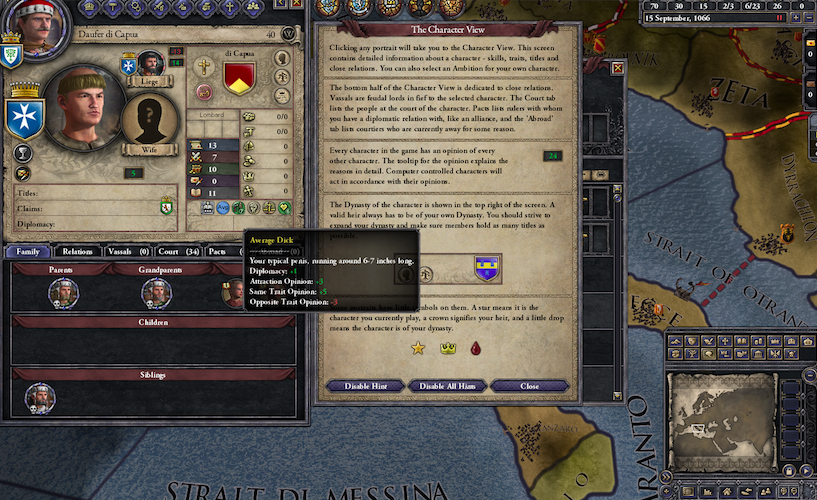Adding Dick Sizes To Historical Strategy Game Introduces Some Complications