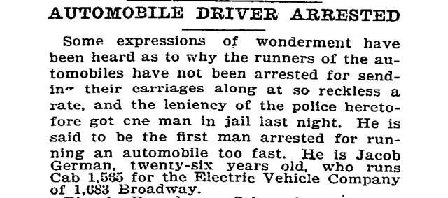 On This Day in 1899, The First Speeding Arrest Happened — At 12 mph