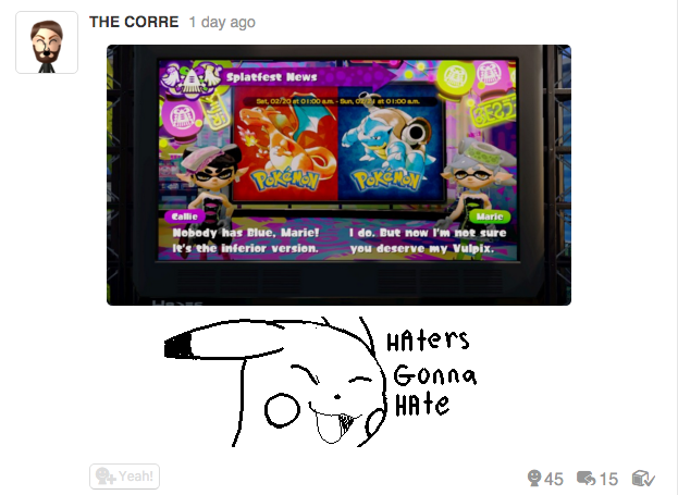 Splatoon Is Lit With Players Arguing Over Pokémon Red and Blue