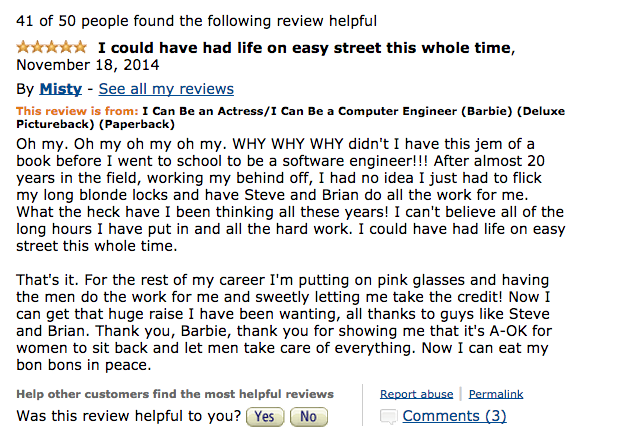 The Internet's Best Responses to Computer Engineer Barbie