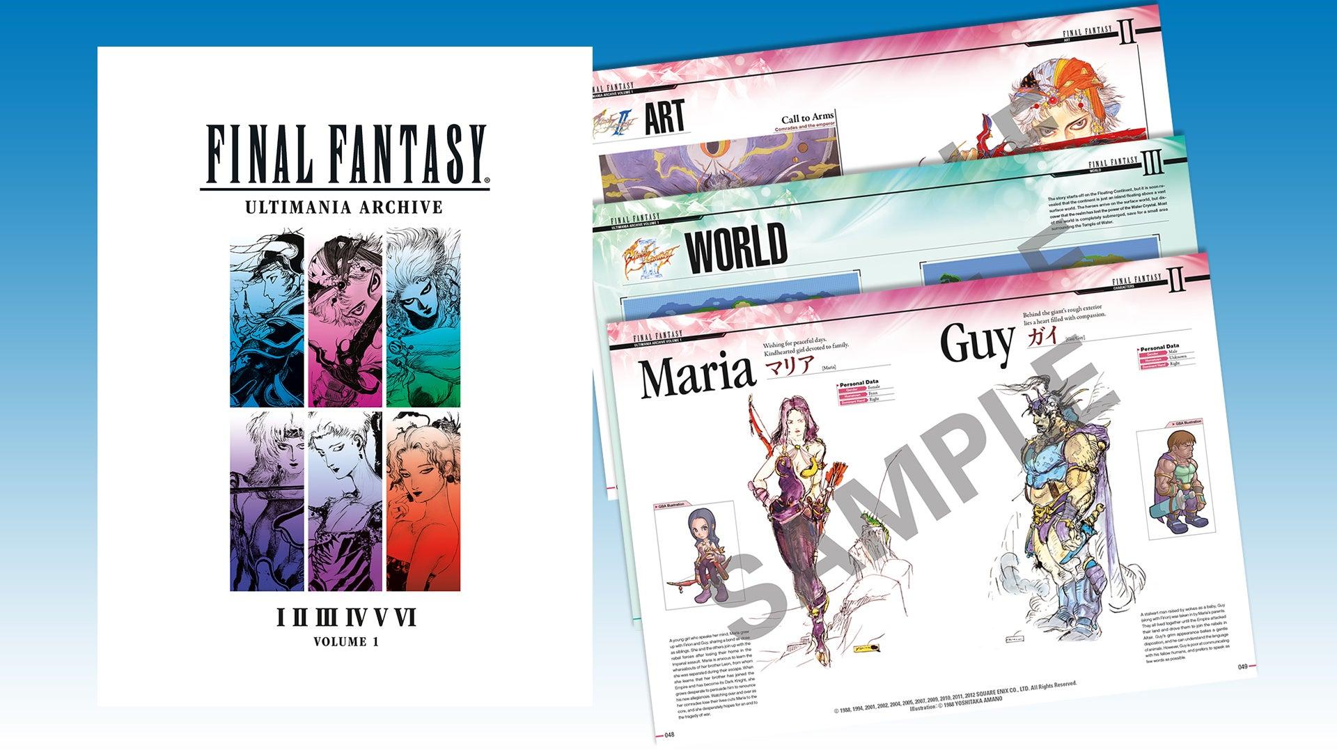 A Peek Inside Final Fantasy's Ultimania Art Book, Now In English