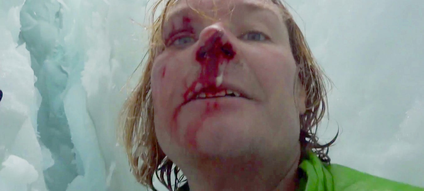 Man films terrifying ordeal after falling into 70-foot crevasse