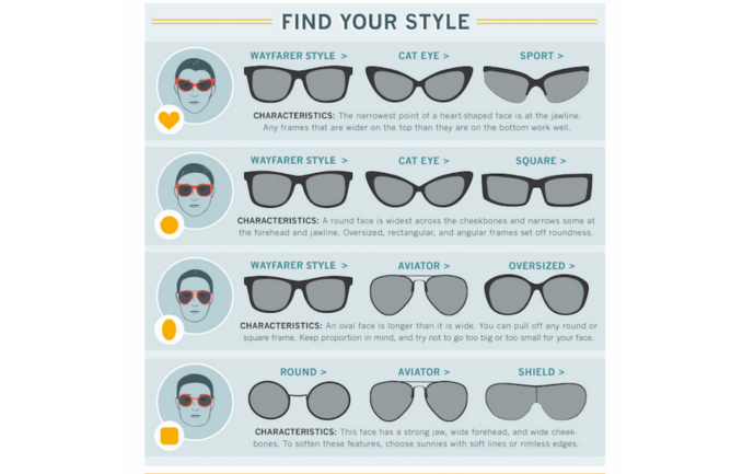 choose the best sunglasses or glasses for your face