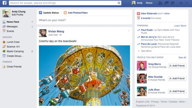 Facebook Announces Uncluttered, Minimal News Feed Design