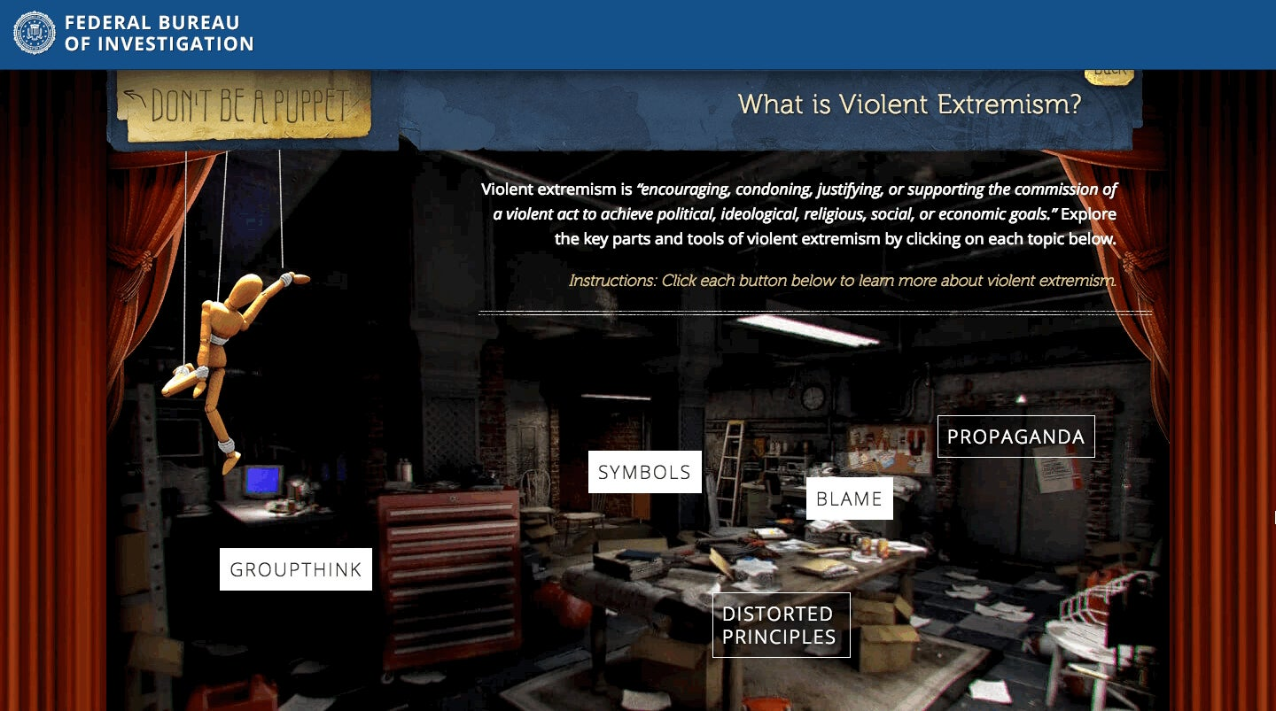 Your Tax Dollars Paid for This Awful FBI Site That Teaches Teens to Spot Violent Extremists