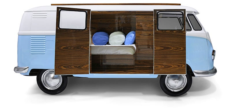 no one is going to use this vw kombi bed for sleeping gizmodo australia. Black Bedroom Furniture Sets. Home Design Ideas