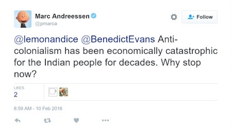Marc Andreessen Did a Magnificently Bad Tweet