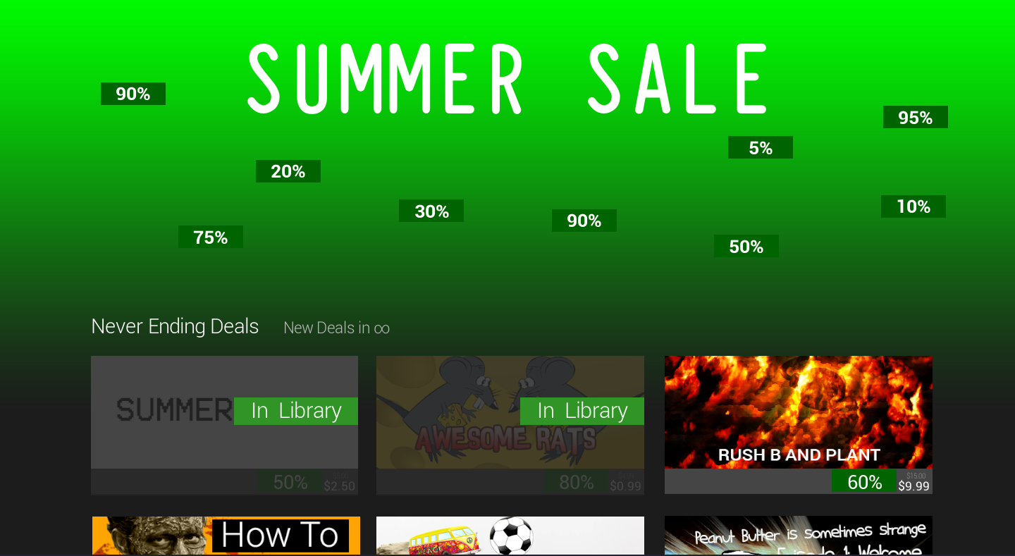 Someone Is Making A Game Based On The Steam Summer Sale