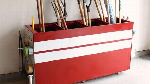 Repurpose An Old Filing Cabinet As Garage Storage