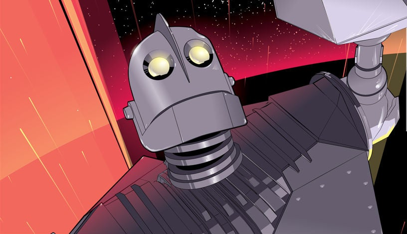 The Iron Giant Will Pop Off Your Wall In This Vibrant New Poster
