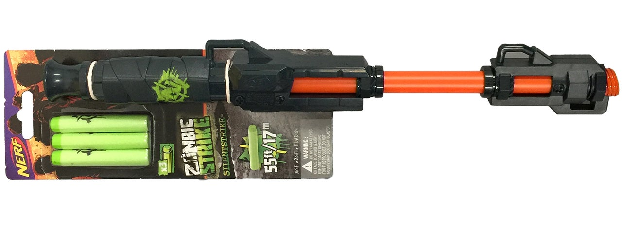 Silently Stalk Your Co-Workers With Nerf's Zombie Strike Blowgun