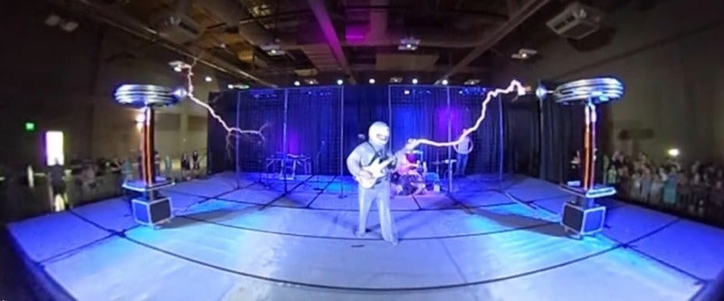 Watch Musical Tesla Coils Electrify An Audience In Glorious 360 Video