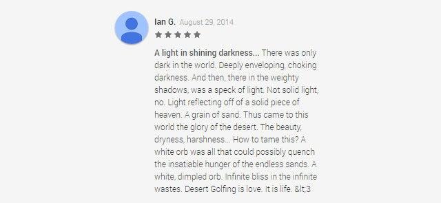 F**k You, Desert Golfing, aka The Worst Best Game In The World