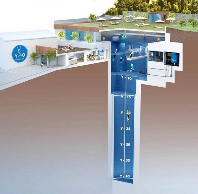 The deepest pool in the world is 131 feet deep