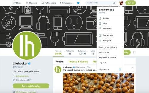 Twitter brings its dark 'Night mode' theme to the web