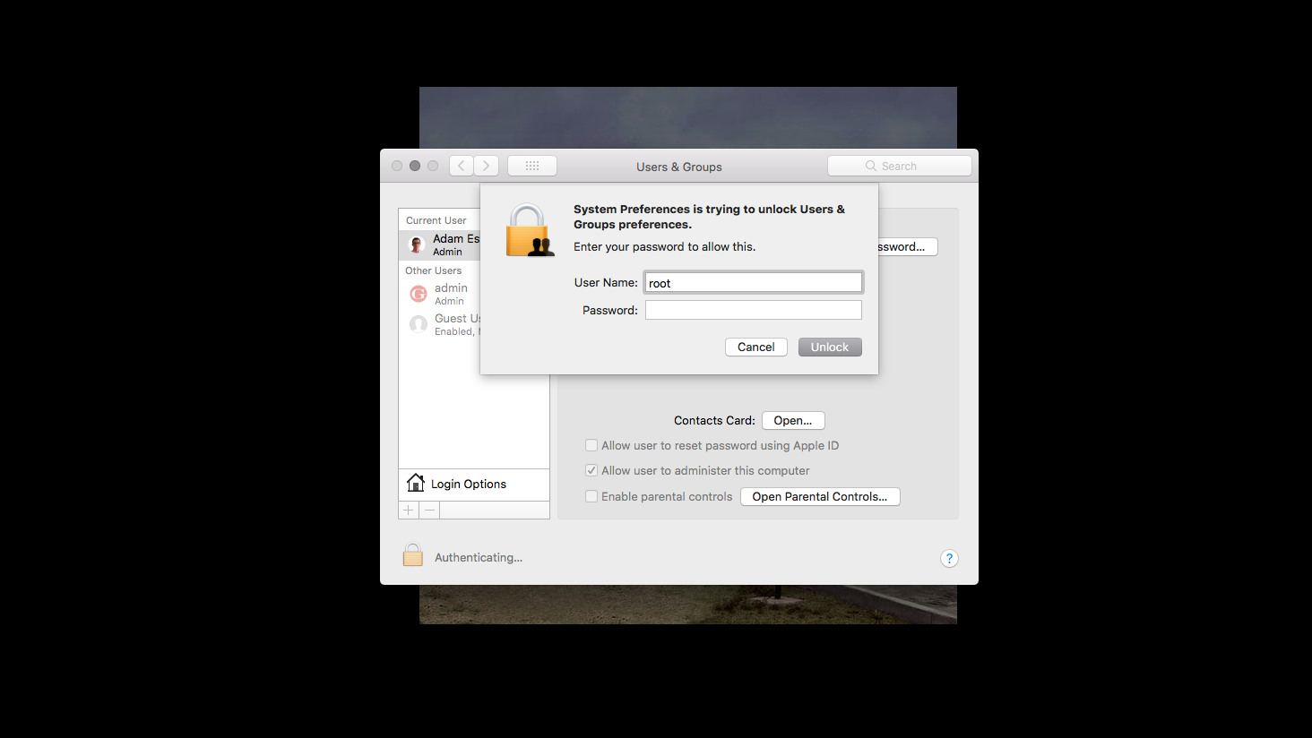 MacOS High Sierra bug allows full admin access without a password