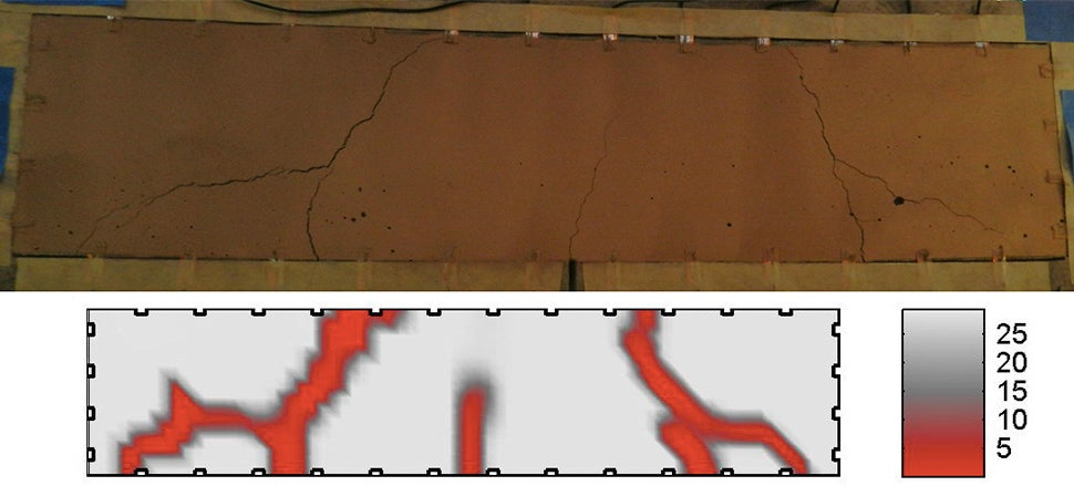Conductive Paint Reveals The Faults In Our Concrete Structures