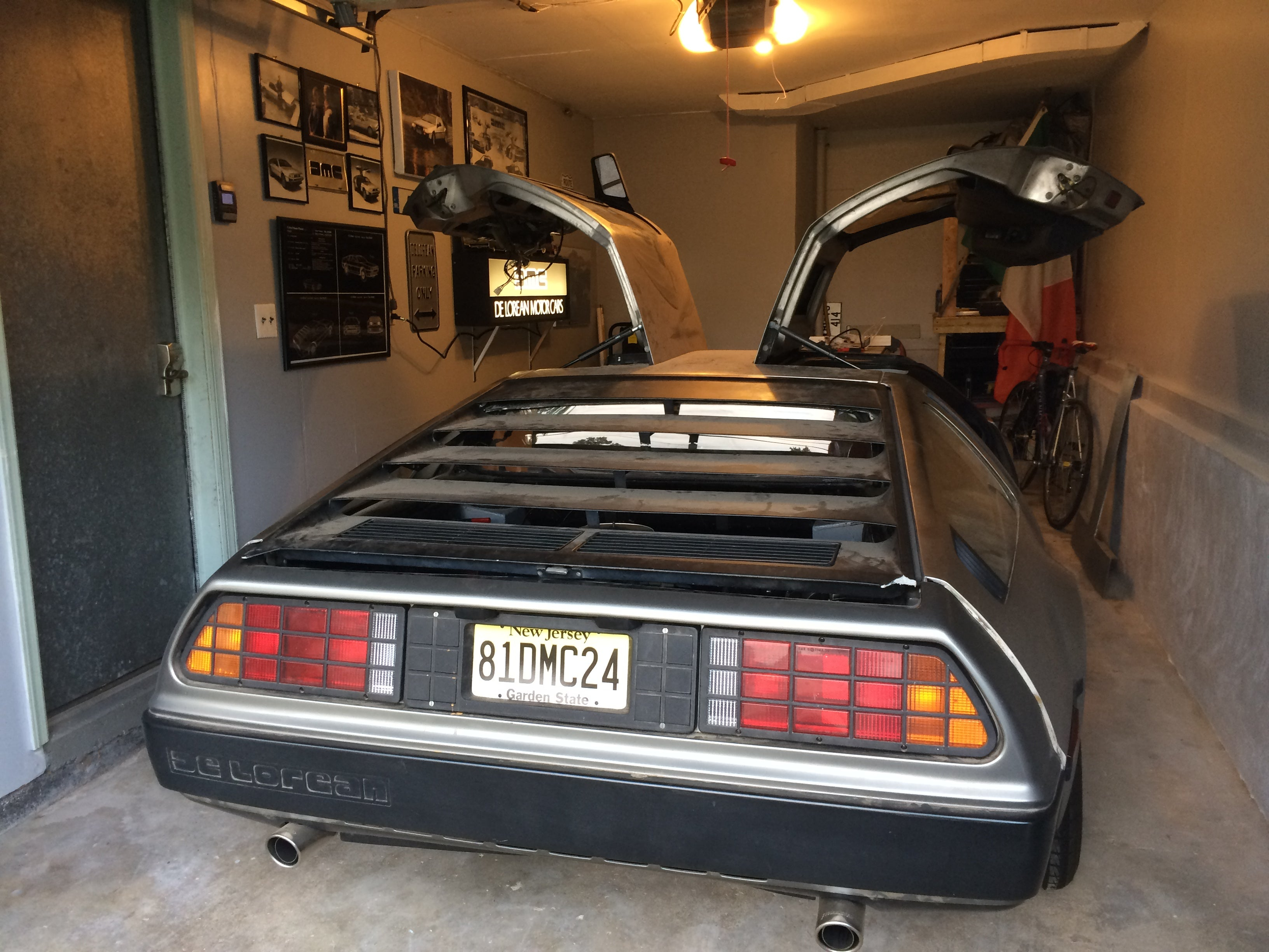 Johns Car In His Delorean Themed Garage Space In New Jersey Photo John Dore
