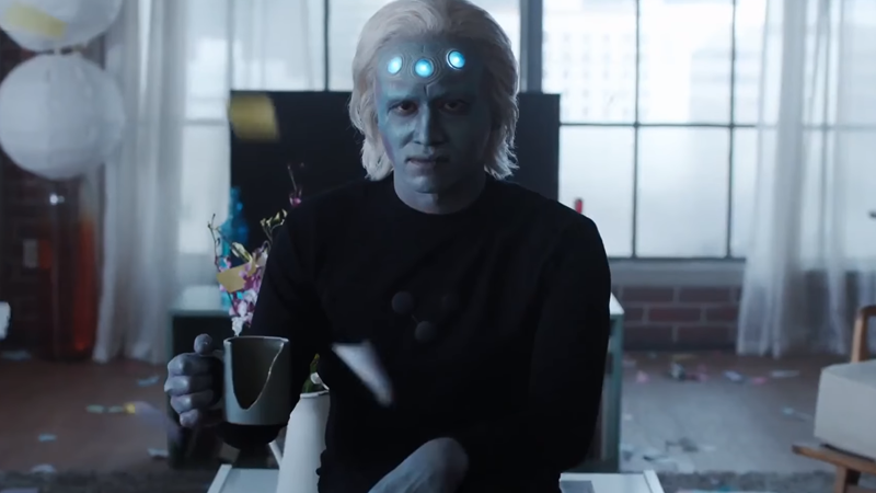 Cursed Image Alert: Our First Look At Supergirl's Brainiac-5