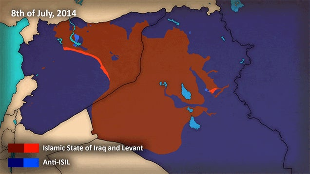 Animated Map Shows the Spread of ISIS in the Past Few Years