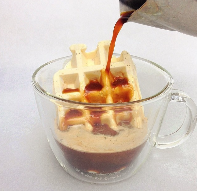 A waffle made from ice cream means you get to eat dessert for breakfast