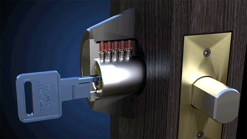 Conventional Picking Tools Won't Work On This Shielded Lock