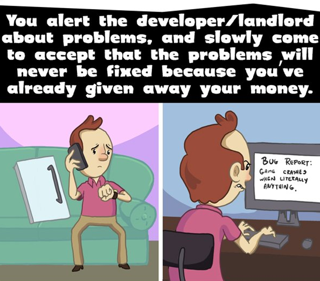 Renting an Apartment Is Just Like Steam Early Access
