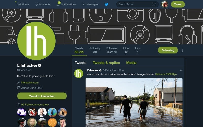 Twitter rolls out Night Mode for its Desktop Web App