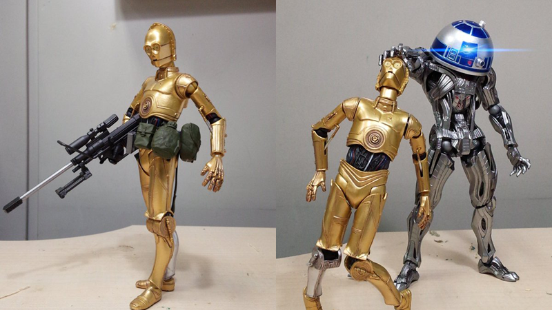R2-D2 And C-3PO Are Ou...C 3po Red Arm