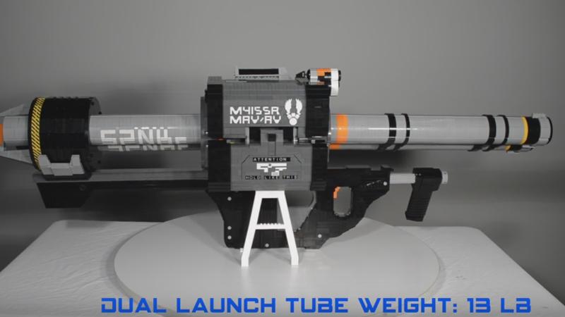 6,000-Piece LEGO Replica Of Halo 5's Rocket Launcher