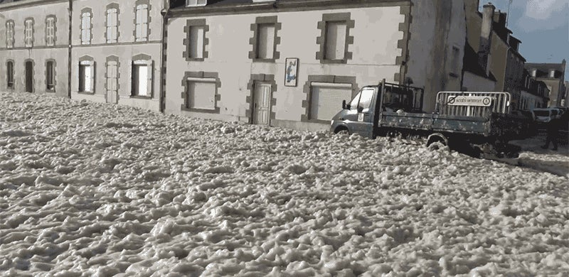 French Town Attacked by Foam, Is Foam Town Now
