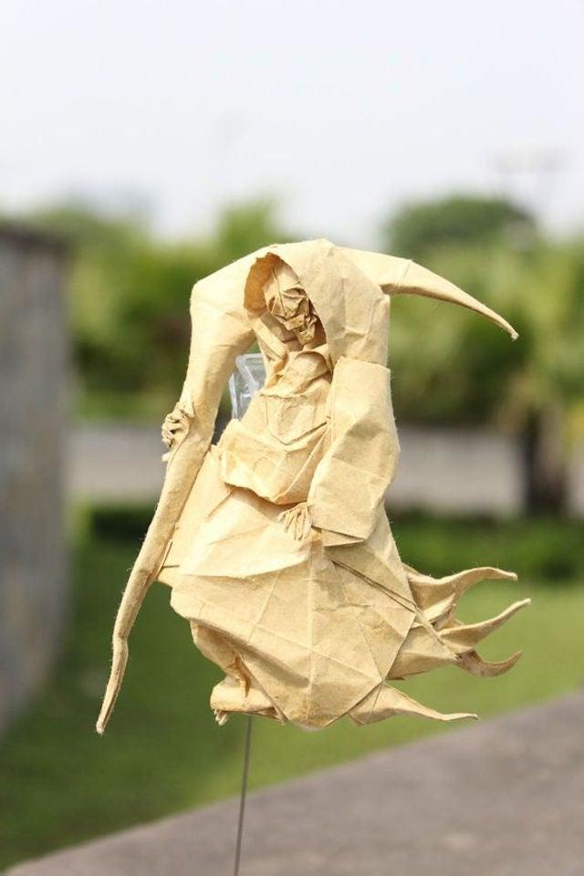 Papercraft Genius Creates Origami Dragons, Grim Reaper, and More